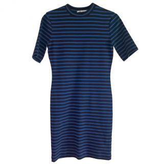 T by Alexander Wang striped dress