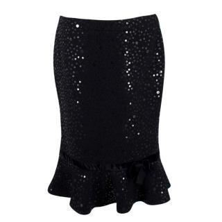 Andrew GN Embellished Wool Skirt