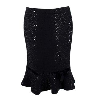 Andrew GN Embellished Wool Skirt
