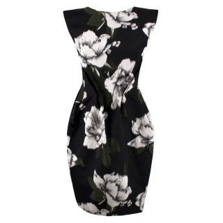 Lanvin Silk Blend Floral Dress