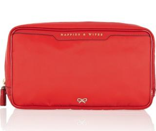 Anya Hindmarch Red Baby Nappy And Wipes Bag Case