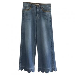Red Valentino Wide Legged cropped Jeans