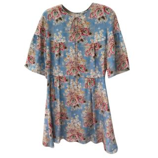 Vilshenko Floral Print Dress