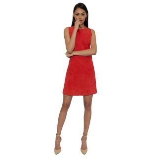 Balenciaga A-Line Suede Dress