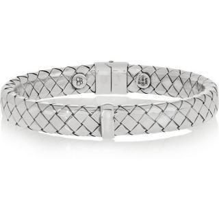 Bottega Veneta Silver intrecciato Bracelet