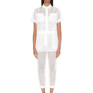 Sacai Embroidered Lace Jumpsuit
