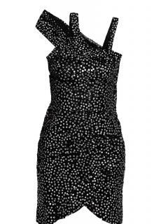 Isabel Marant Becky sequined silk organza draped dress