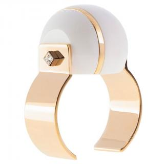may mOma Porcelain Sphere Gold Cuff