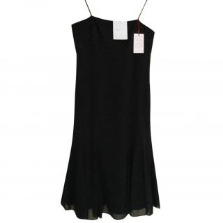 Amanda Wakeley black chiffon cocktail dress