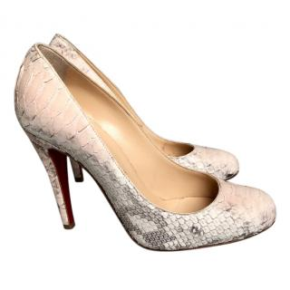 Christian Louboutin Ron Ron 100 Python Degrade Pumps