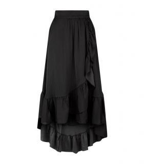 Maje Jonah Black Ruffle Skirt
