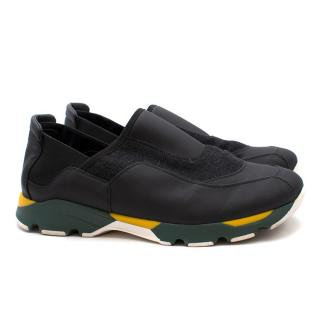 Marni Felt Slip-On Sneakers