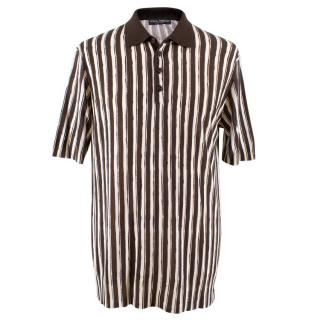 Dolce & Gabbana Men's Striped Polo T-shirt