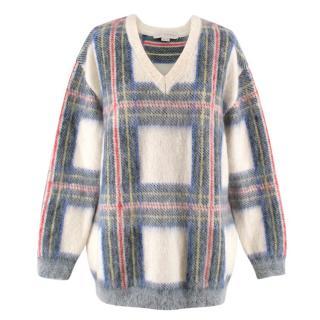 Stella McCartney Tartan Intarsia Wool Sweater