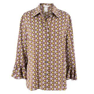 Celine Floral Silk Shirt