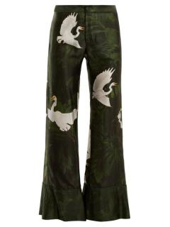 F.R.S For Restless Sleepers Bird Patterned Trousers