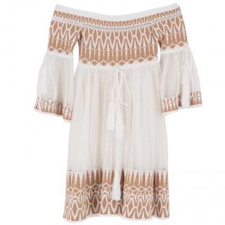 Ronny Kobo Bardot Crochet Dress