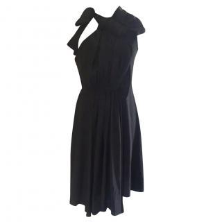 Marni Pleated Tie-neck Dress