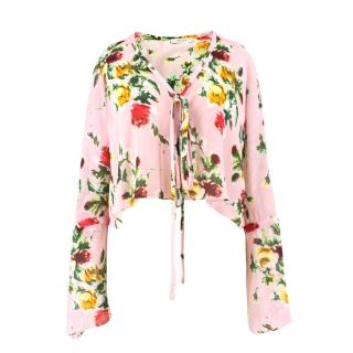 Milly Silk Floral Blouse