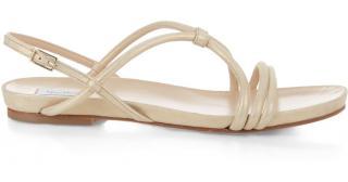 Max Mara white piacere sandals
