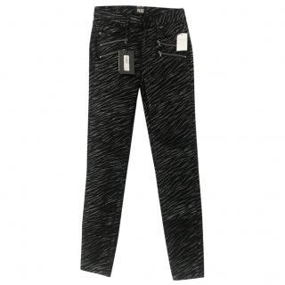 Rosie HW x Paige Zebra Print Jeans