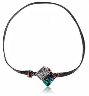Vicki Sarge Leather & Swarovski Crystals Wrap Bracelet
