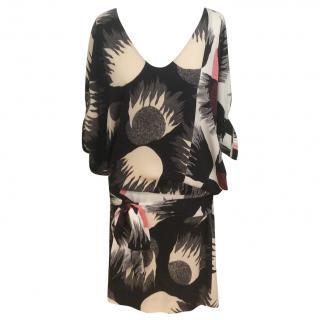 Diane von Fustenburg silk mini dress