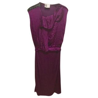 Lanvin silk blend dress