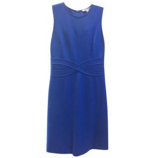 Diane Von Furstenberg sleeveless blue dress