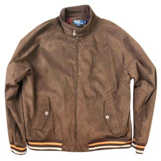 Polo Ralph Lauren Suede Leather Bomber Jacket