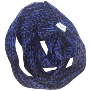 Saint Laurent Babycat wool silk scarf
