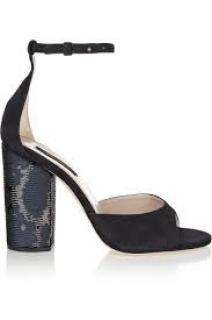 Marc Jacobs sequin embellished suede sandals