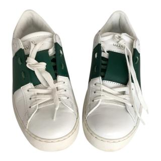 Valentino open sneaker white/green