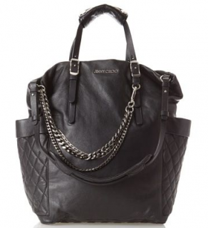 Jimmy Choo Iridescent Snakeskin Embossed Blare Tote Bag