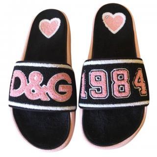 Dolce & Gabbana Towelling Slides