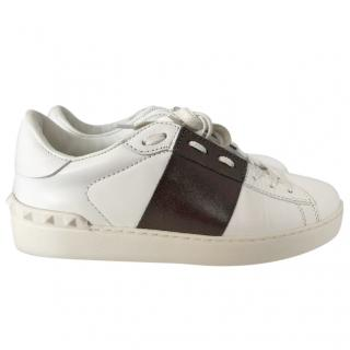 Valentino open sneakers white/bronze