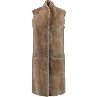 Iris and Ink shearling Elvira gilet