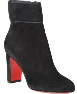 Christian Louboutin Moulamax 85 Black Suede Boots