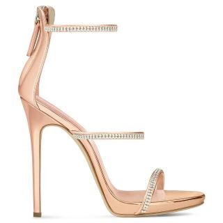Giuseppe Zanotti Harmony Rose Gold Sandals