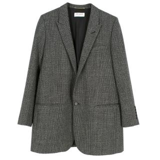 Saint Laurent Wool Longline Blazer