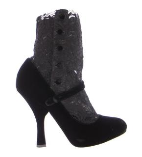 Dolce and Gabbana Velvet Lace Booties