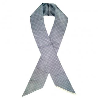 Bvlgari men's silk grey scarf
