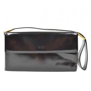 Pollini Black Patent Bag