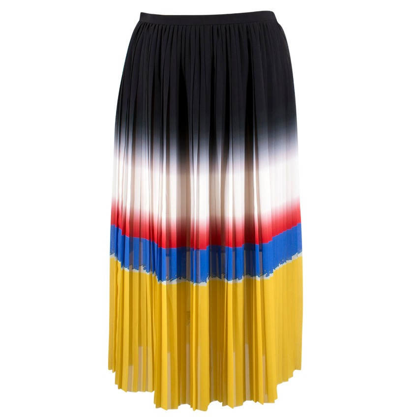 Marco de Repetto Multicoloured Pleated Skirt