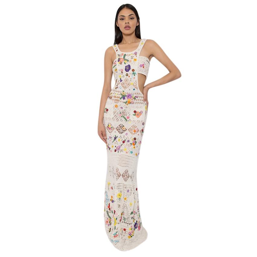 Emilio Pucci Crochet Embroidered Dress