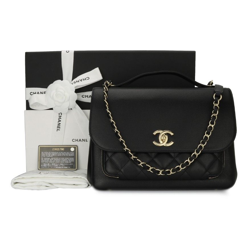 092f4a2ea755 Chanel Large Black Business Affinity Top Handle Bag | HEWI London