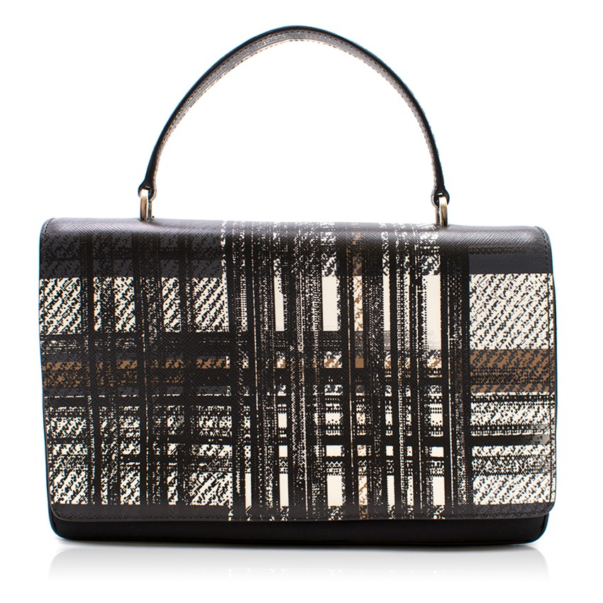 Prada Printed Top Handle Bag