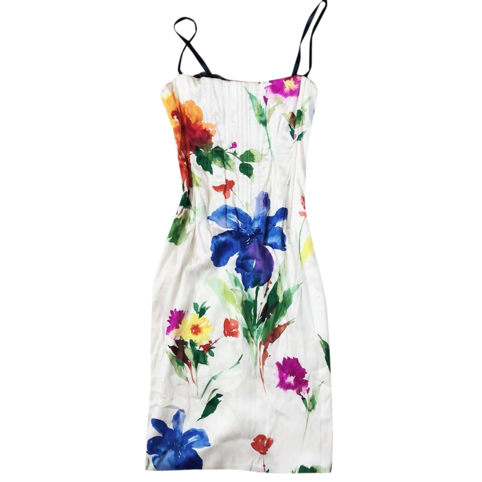 Dolce Gabbana printed silk floral dress