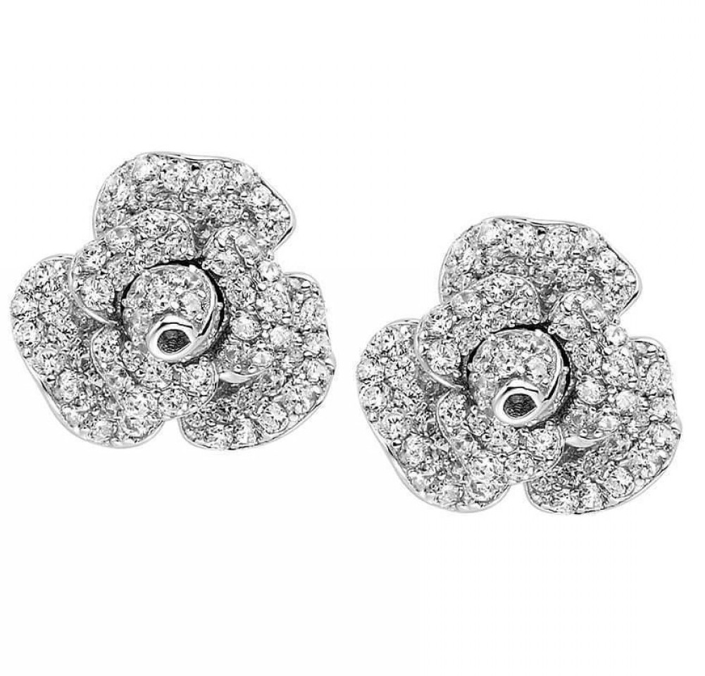 Fei Liu Peony Bloom Earrings