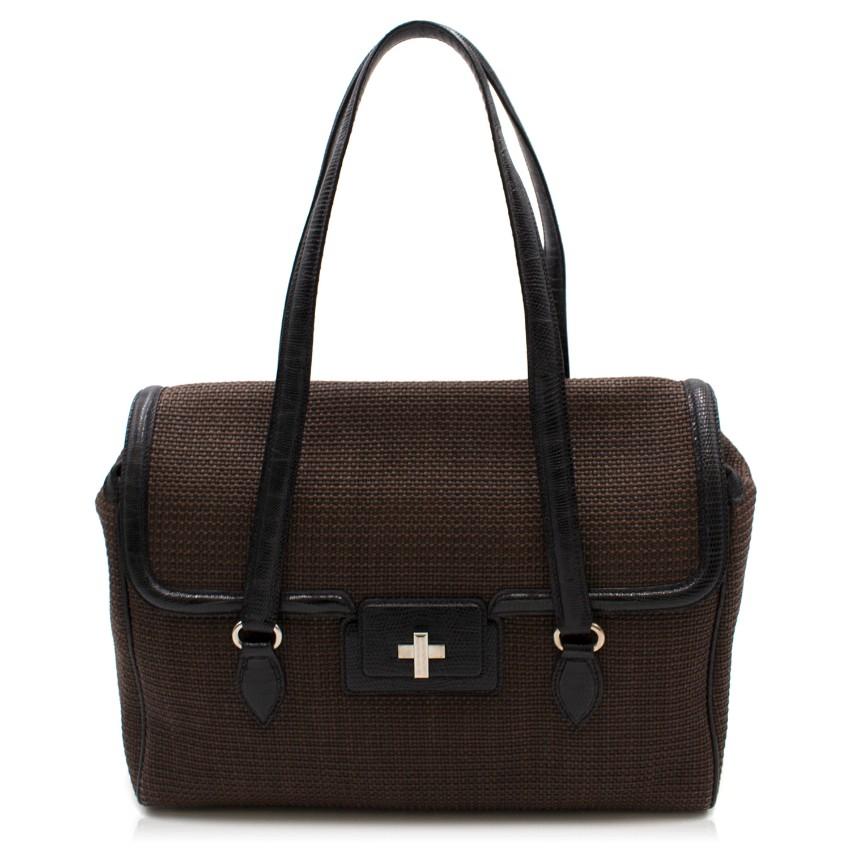 9578cdd021c Alaia Raffia Lizard Bag   HEWI London